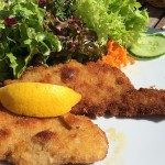 Schnitzel and salad. #100happydays #sillychallenge 17/100