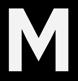 Capital letter M in IBM Plex